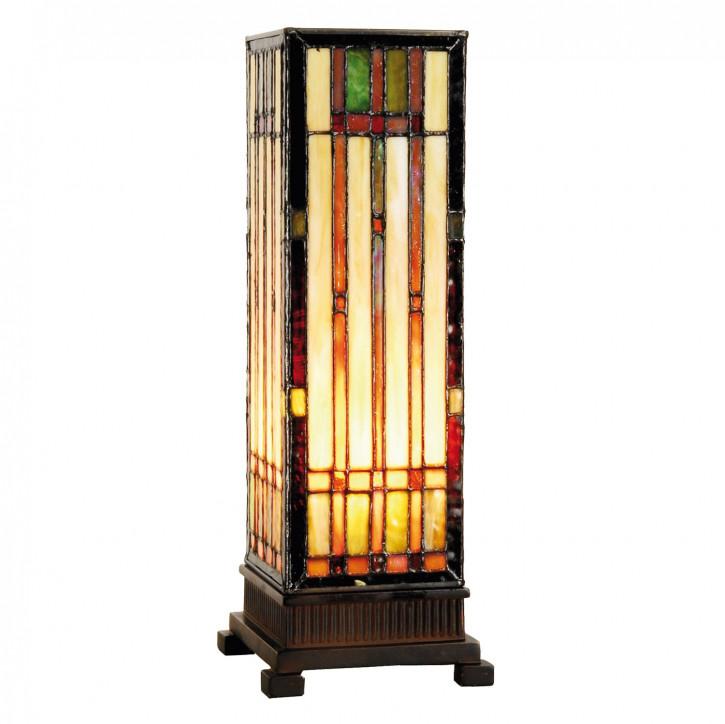 "Tiffany Säulenlampe 35x12.5cm ""Linear Chaos"""