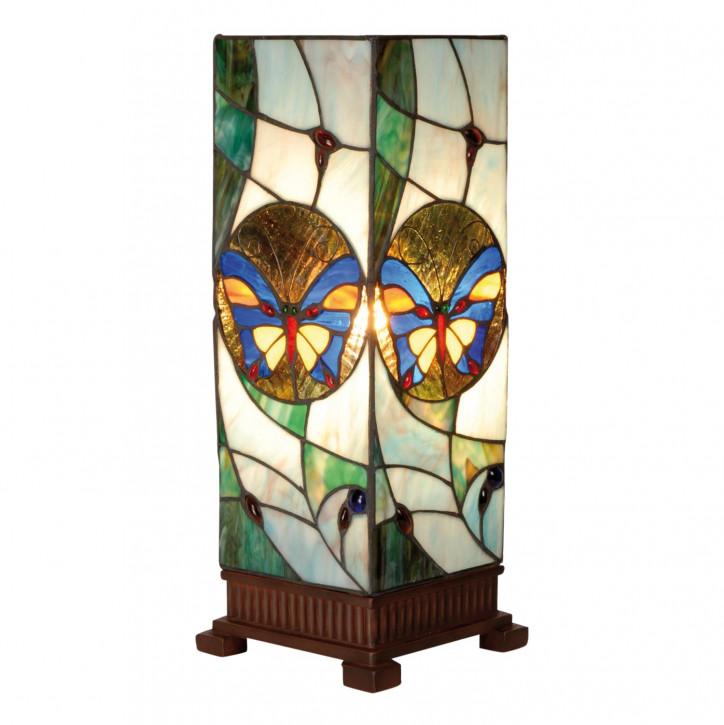Tiffany Säulenlampe Bunter Schmetterling 45x18cm