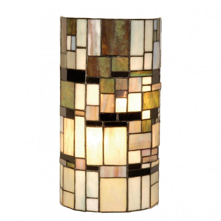 "Tiffany Wandlampe ""Moderne Steine"""