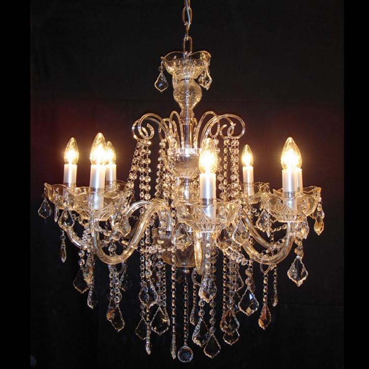 Kristallamp met chroom 8-lichts Krisstallampe komplett