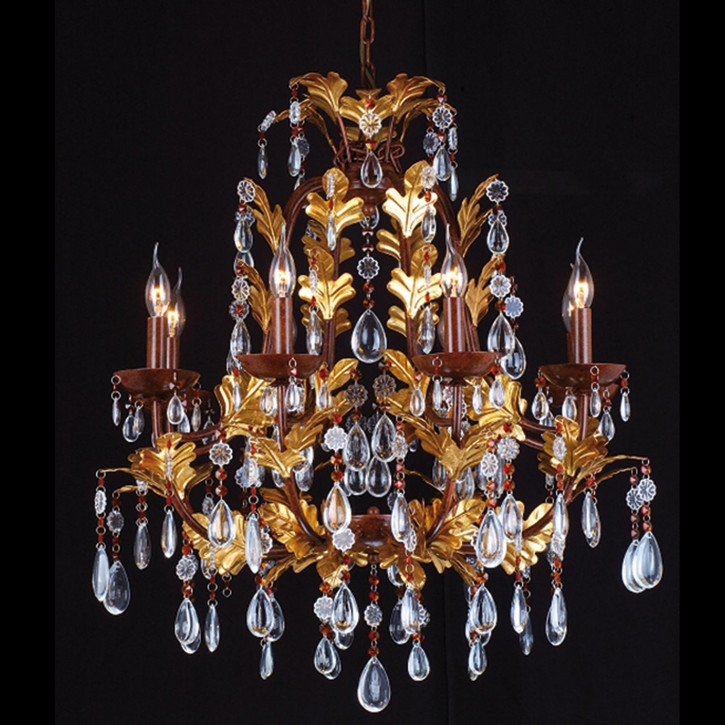 Kroonlamp 8-lichts 90-150 * (d)75 cm 8x E14/40w