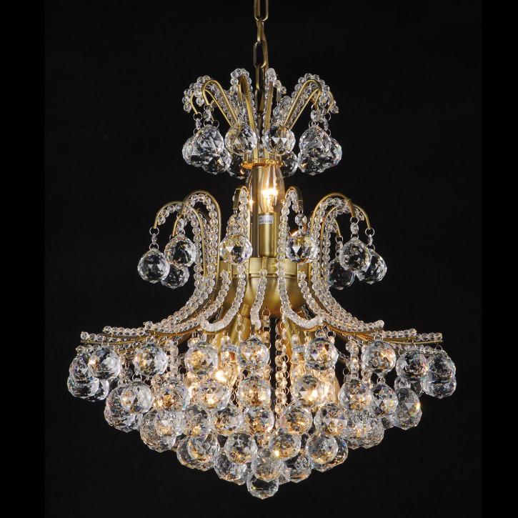 Kristalllampe Antik color glas compl. Kristalllampe komplett