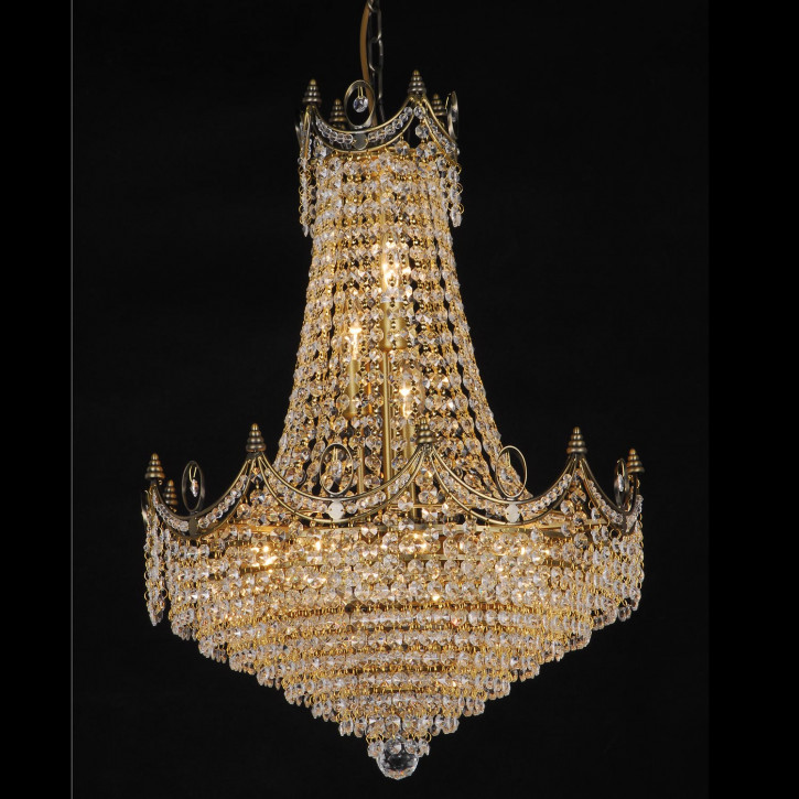 Kristalllampe Antik color komplett 75-190 * (d)50 cm