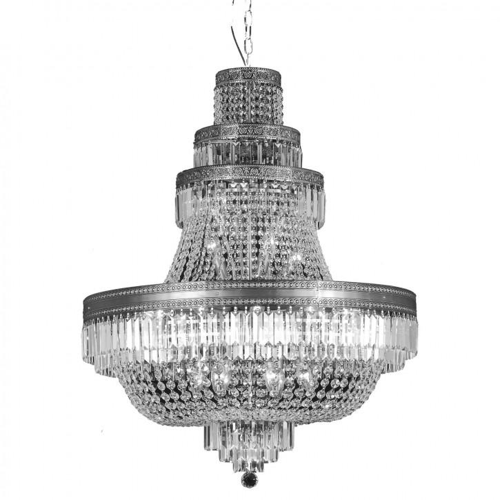 Kristalllampe Antik color glas compl.105-220*(d)80cm 24x E14/40w