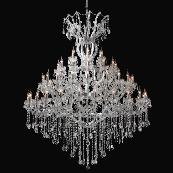 Kronleuchter nickel  60 Lichts komplett 200-270 * (d)170 cm