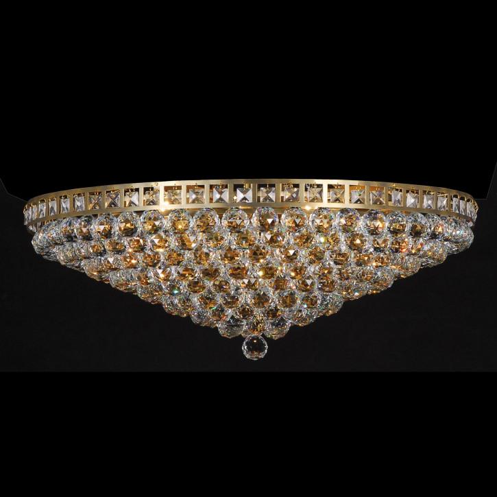 Cristal plafondlamp antiek color compl. (d)80*27cm 15x E14/40w