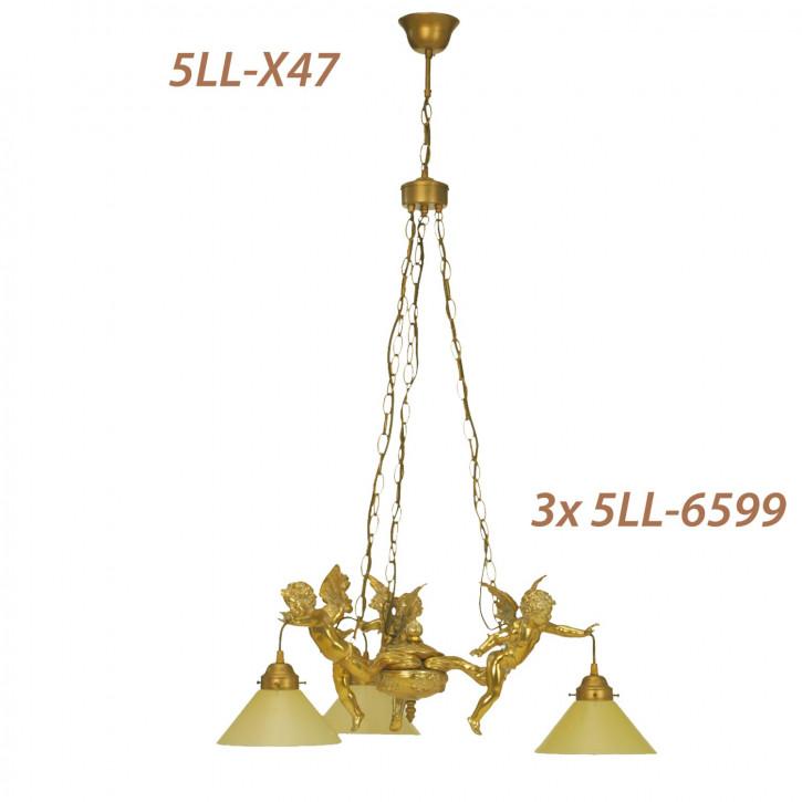 Haengelampe-3-Engel-  Gold