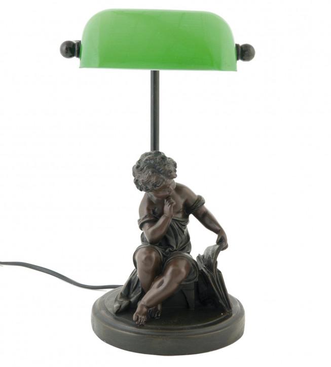 Schöne Bankerslamp Statue braun