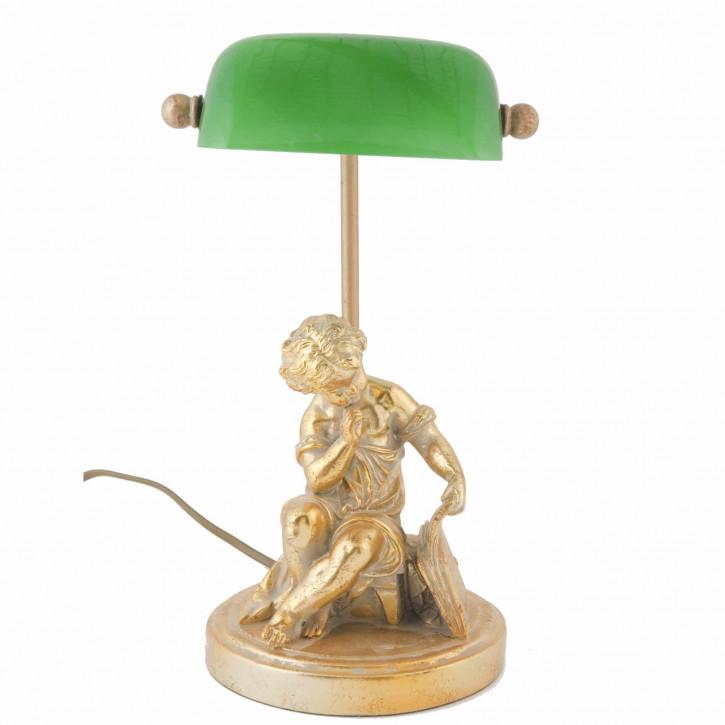 Schöne Bankerslamp Statue gold