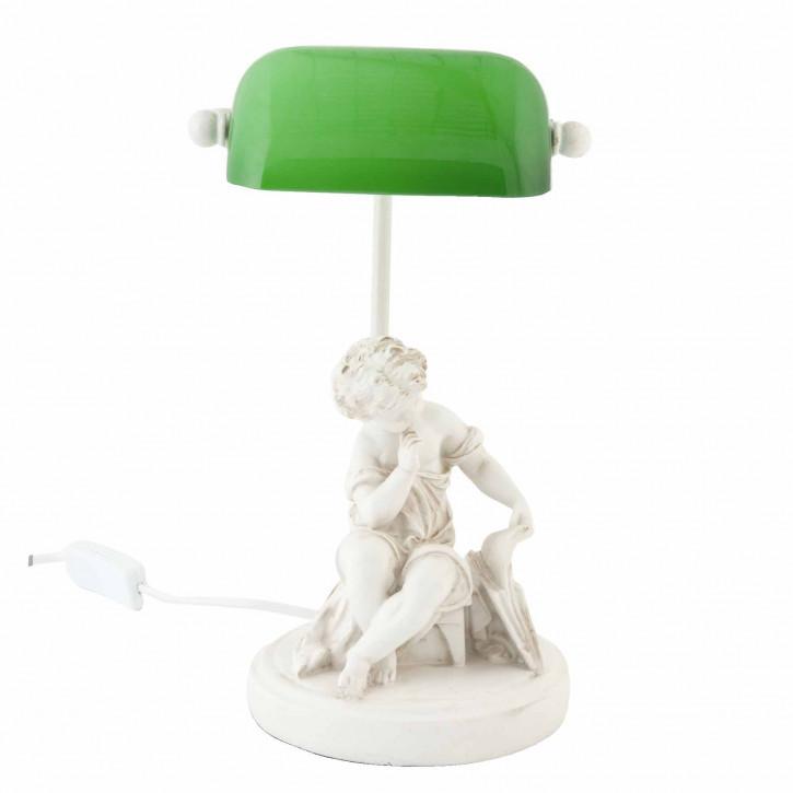 Schöne Bankerslamp Statue weiß