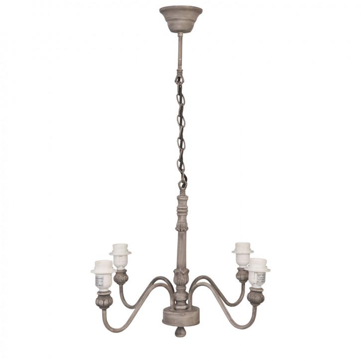 Deckenlampe Lampe braun ca. Ø 50 x 78 cm 4 x E27 max. 60W