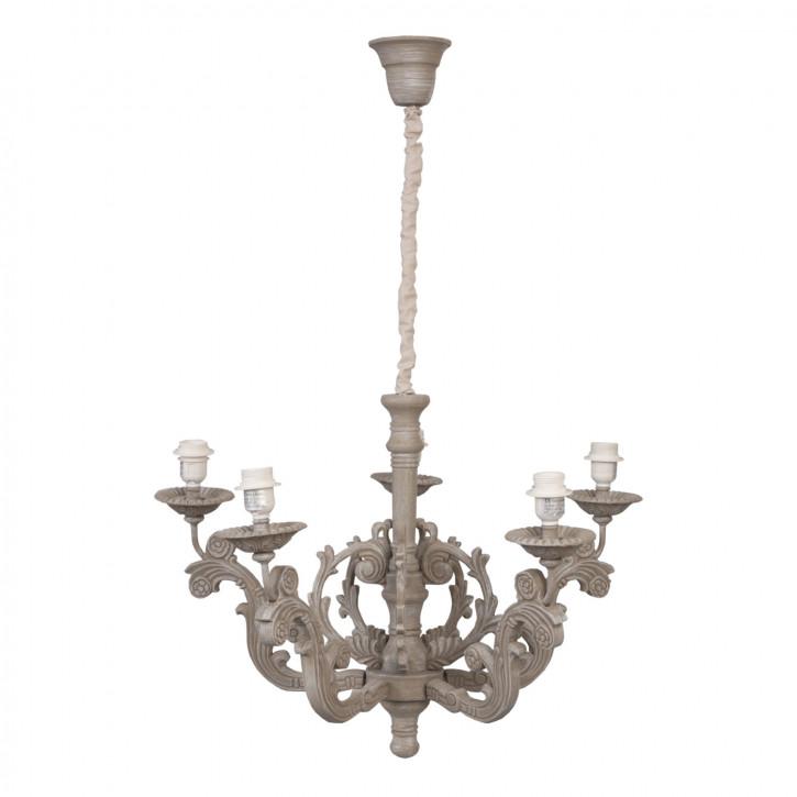 Deckenlampe Lampe braun ca. Ø 72 x 101 cm 5 x E27 max. 60W