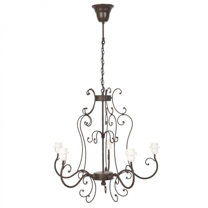 Deckenlampe Lampe grau ca. 54 x 103 cm 5 x E27 max. 60W