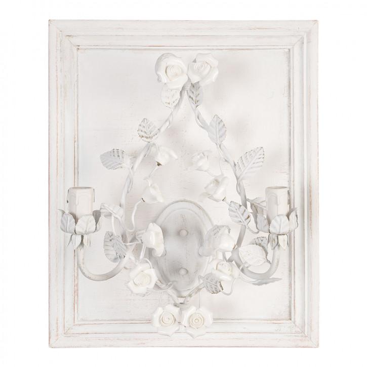 Wandlampe weiß ca. 40 x 18 x 50 cm 2 x E14 max. 40W