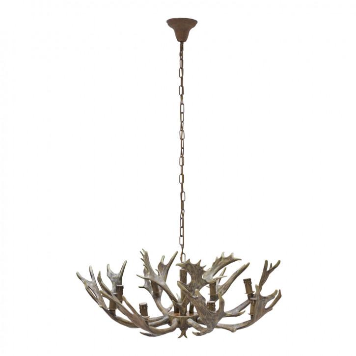 Deckenlampe Lampe Geweih natürlich ca. Ø 85 x 50 cm