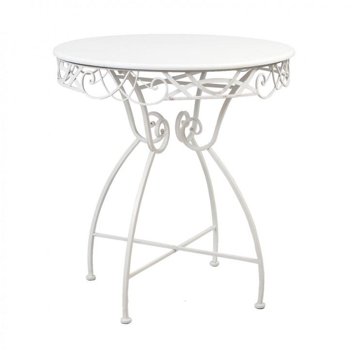 Geschwungener Tisch weiß