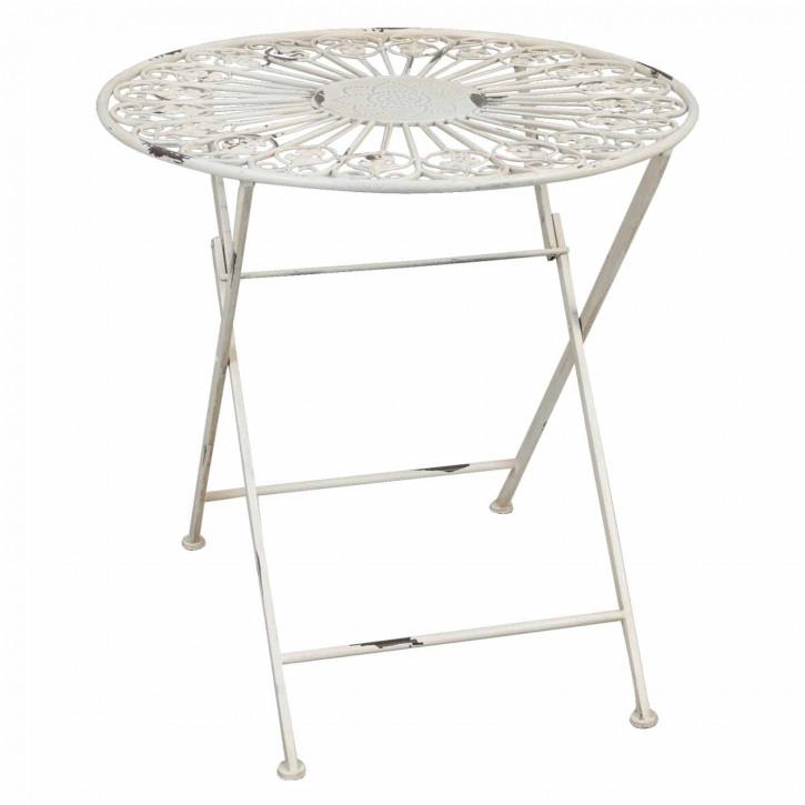 Außergewöhnlicher Tisch rund creme