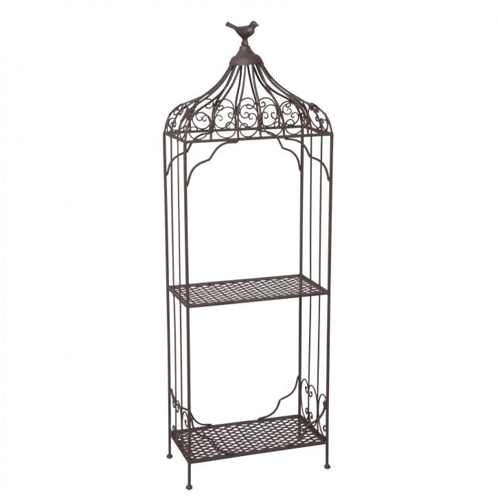 Eisen-Rack, Regal mit Vogel