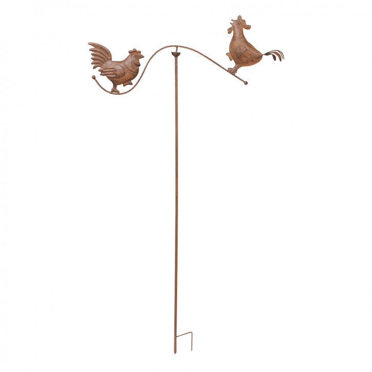 Garten Deko Gartenverzierung Hahn Huhn zum Einstecken in die Erde ca. 76 x 139 cm