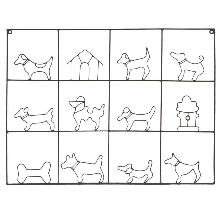 Kartenhalter Hunde braun ca. 61 x 45 cm