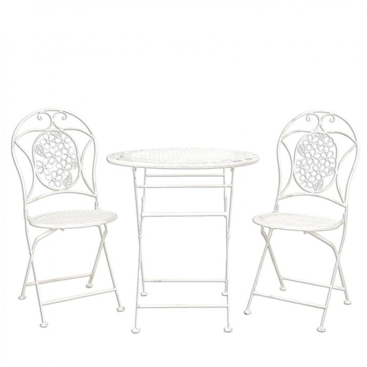 Table + 2x Chair Ø 69x75/41x48x94 cm