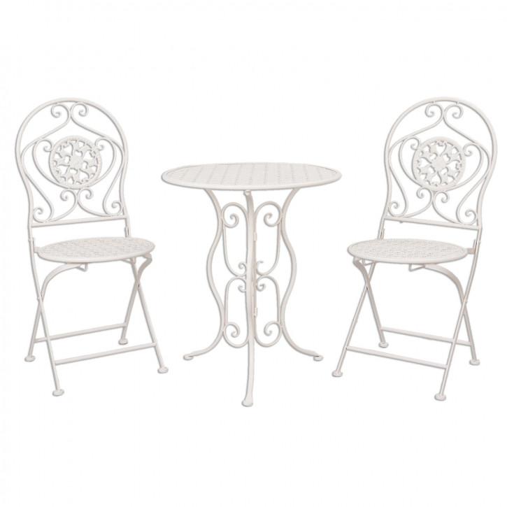 Table + 2x Chair Ø 60x70/40x40x92 cm