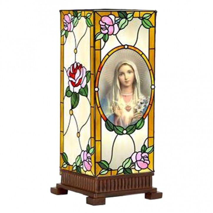 """Beistellleuchte, Lampe im Tiffany-Stil """"Maria"""" 15x45cm"""