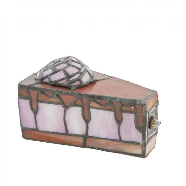 Dekolampe im Tiffany-Stil Kuchenstück 15.5 x 16.5 cm