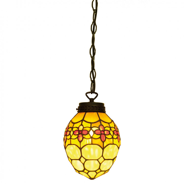 Hängelampe Tiffany-Stil ca. 24 x 155 cm