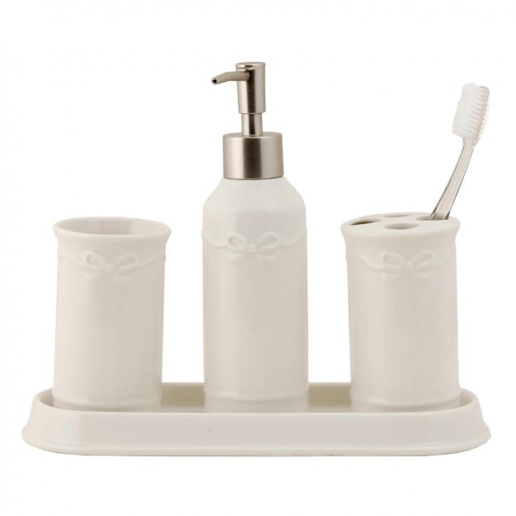 Badezimmerset weiß 4-teilig