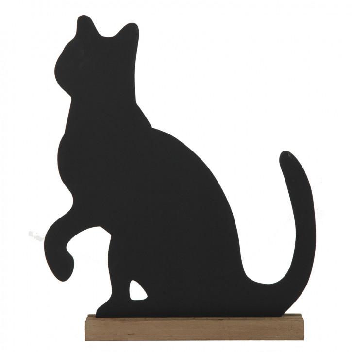 Kreidetafel Katze ca. 37.5x5.5x46 cm