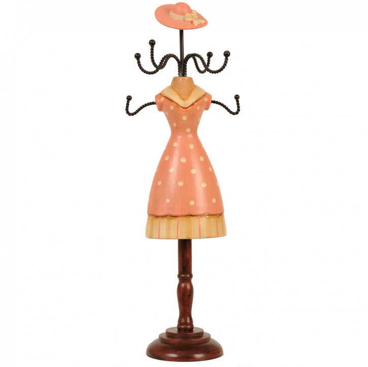 Schmuckständer Holz Rosa 10*7*33 cm
