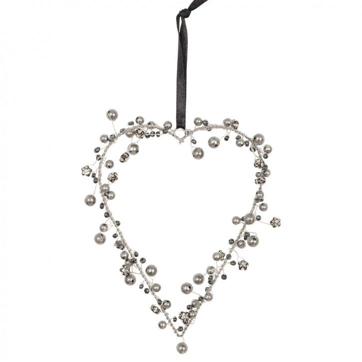 Deko Perlen Herz 11*14cm