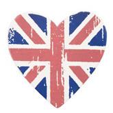 Klammer Herzen mit Englandfahnen-Motiv