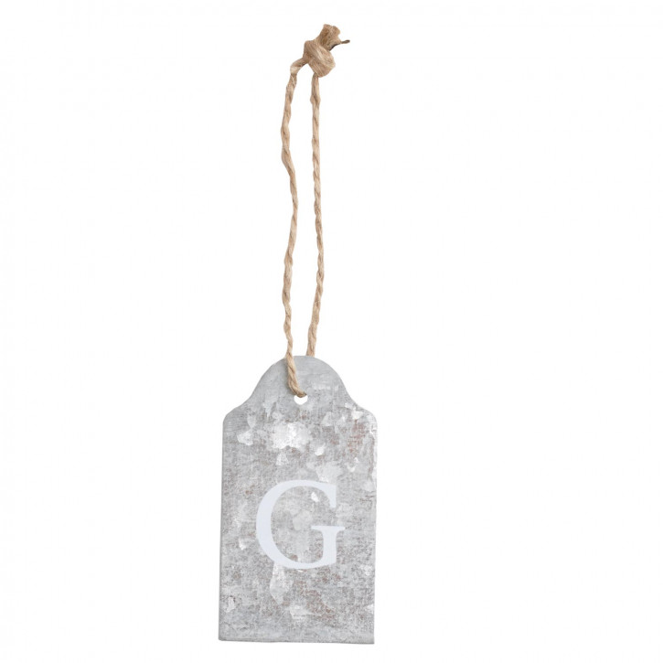 Etikette mit Buchstaben G zum Aufhängen