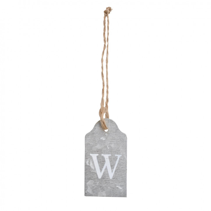 Etikette mit Buchstaben W zum Aufhängen