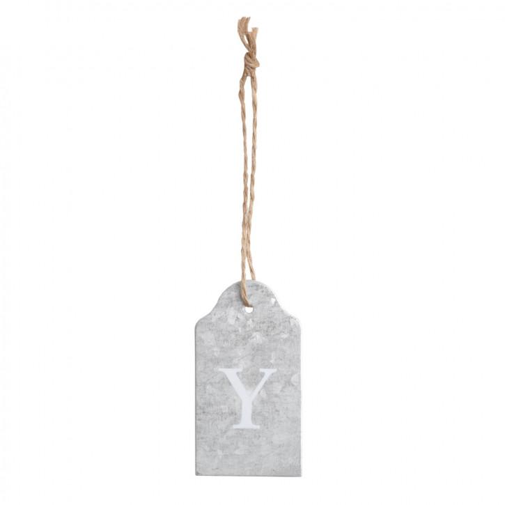 Etikette mit Buchstaben Y zum Aufhängen