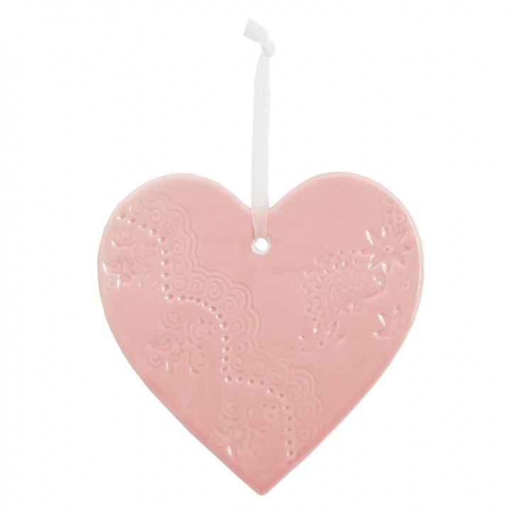 Herz zum Aufhängen, in rosa
