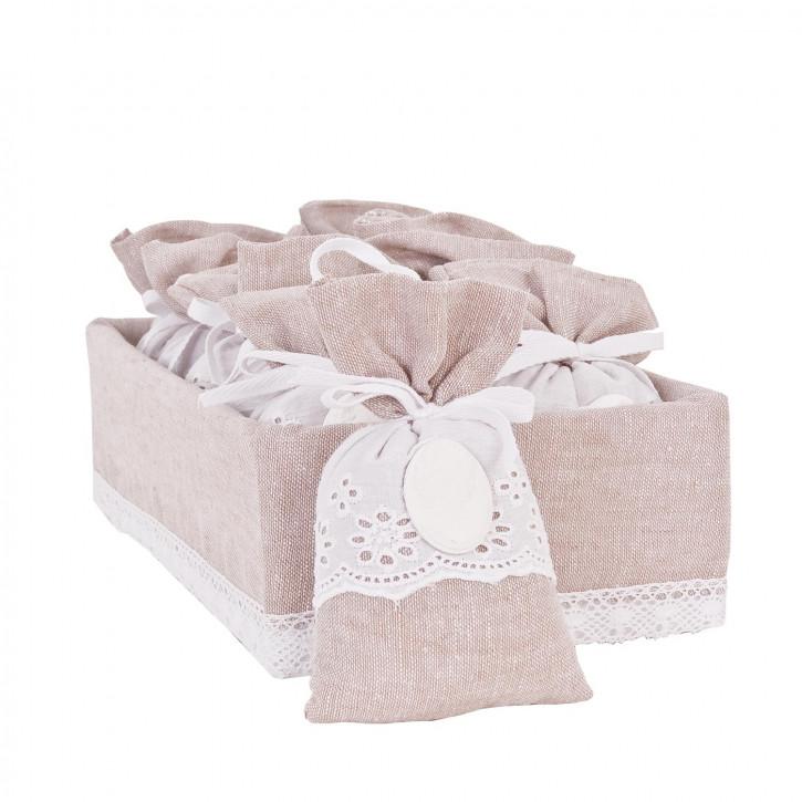 "Aroma-Beutel ""rose"", in rosa Box"