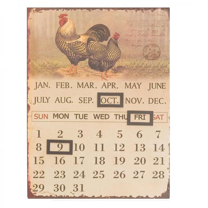 Kalender Hahn & Huhn ca. 25 x 33 cm