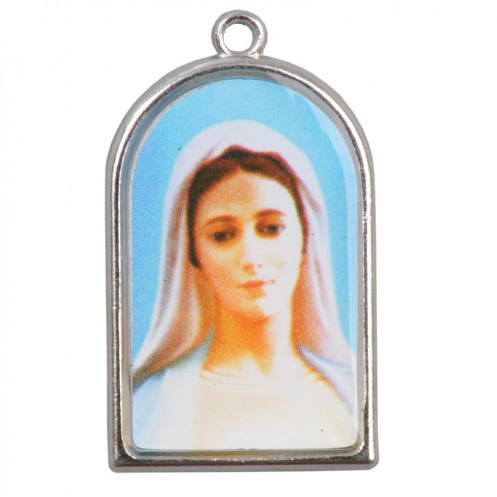Aufhänger Maria in blau/weiss