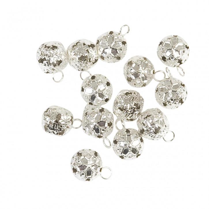 Perlen zum Aufhängen, silber