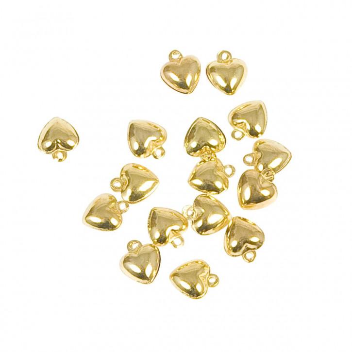 Herzenanhänger in gold