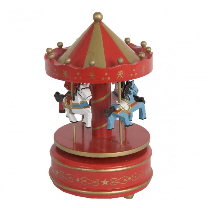Spieluhr Pferde Rot Ca. 11 x 19 cm
