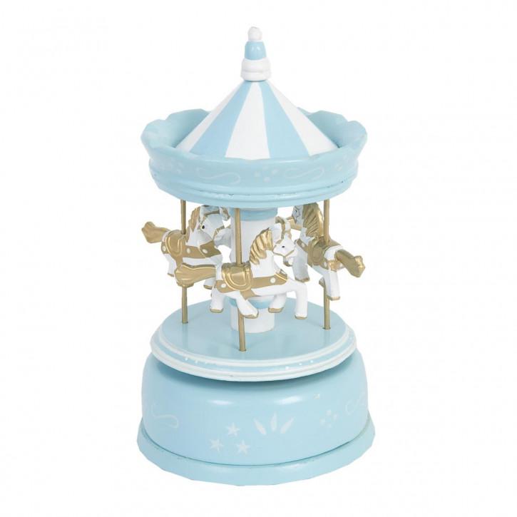 Spieluhr Blau ca. Ø 11 x 19 cm