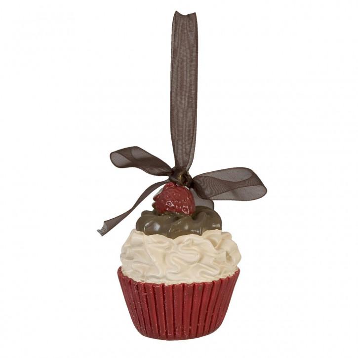 Deko Cupcake rot mit Beere