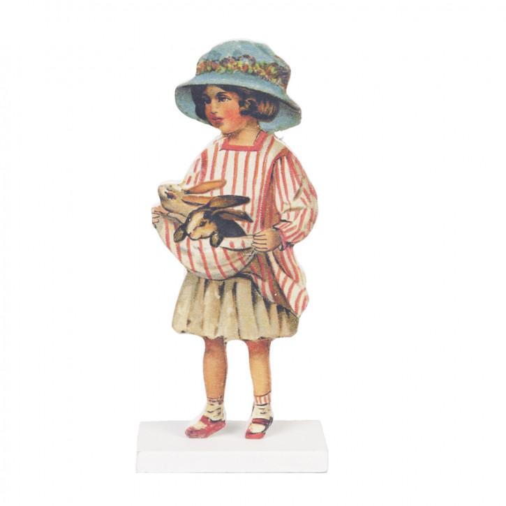 Mädchen blauer Hut ca. 8 x 4 x 18 cm