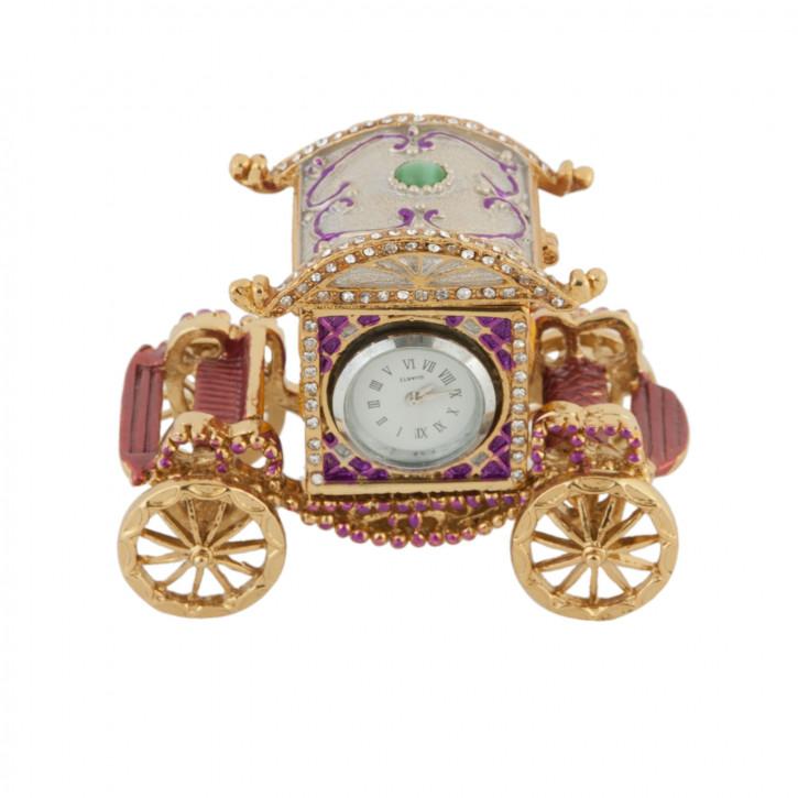 Wunderschöne Dose in Kutschen-Optik mit Uhr