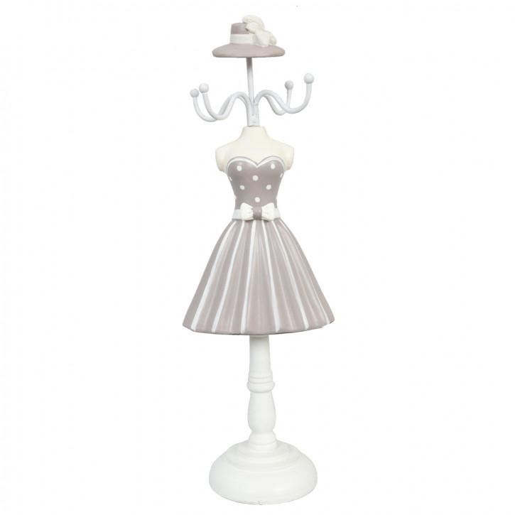 Schmuckständer Kleid Grau ca. 10 x 8 x 32 cm