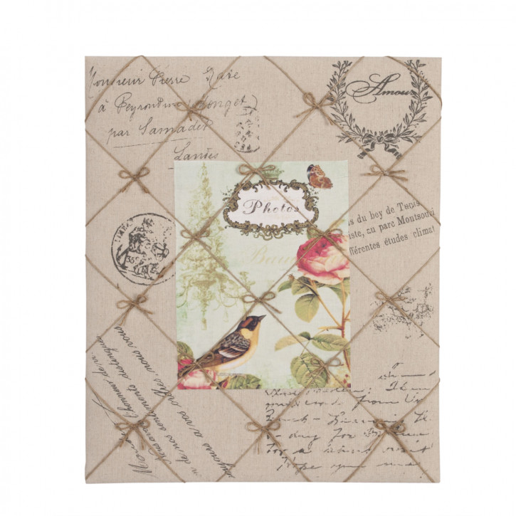 Memoboard Photos Vogel Schmetterling Blume ca. 46 x 56 cm